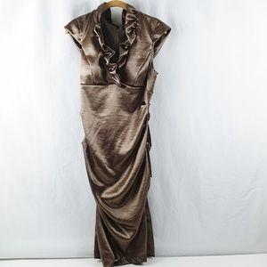 Xscape by Joanna Chen Dress Size 12 Brown Bronze